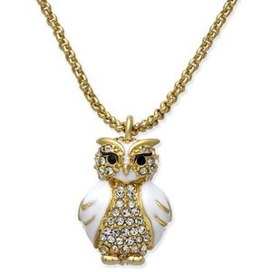 Kate Spade Star Bright Owl Necklace NWT